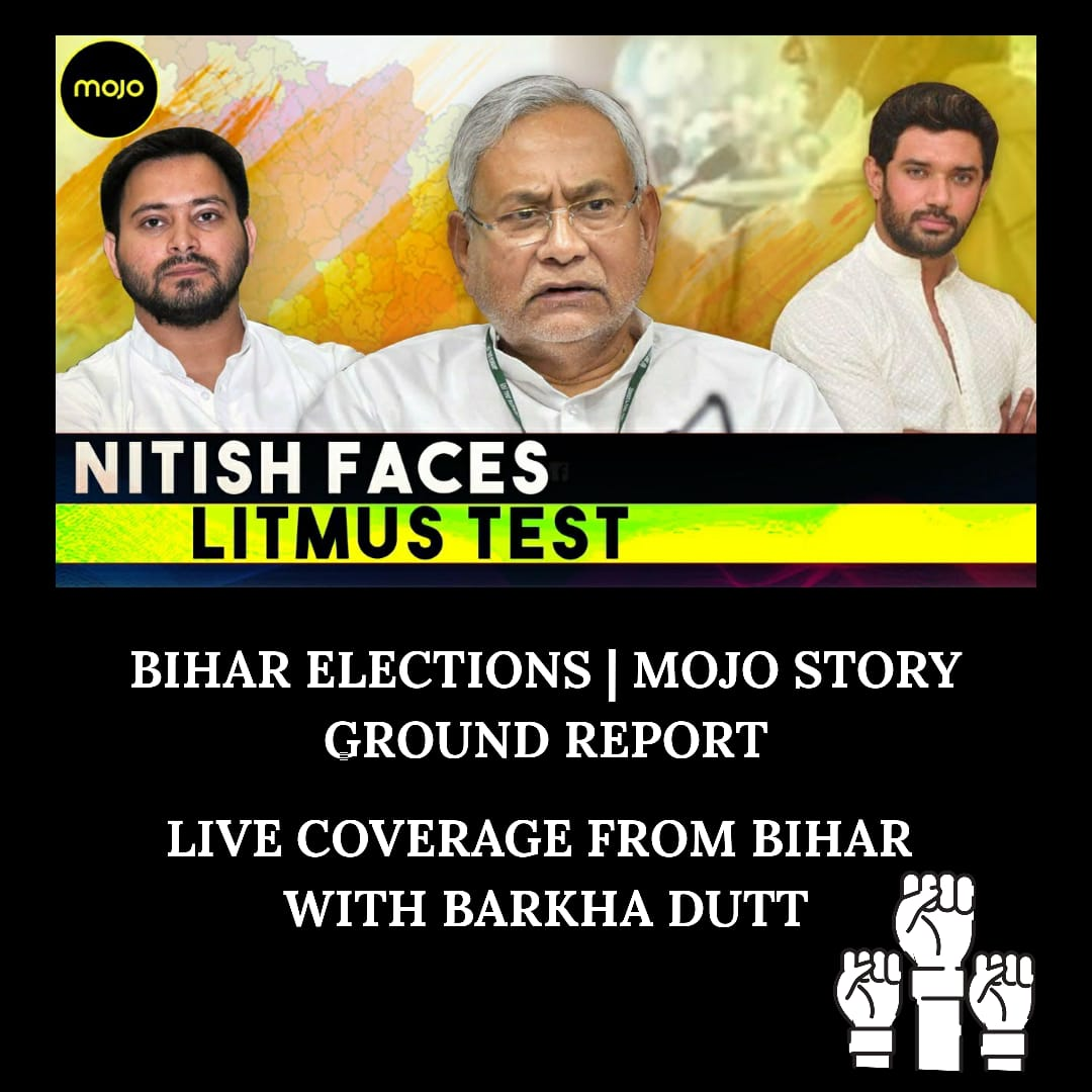 Catch @BDUTT  live covering the Bihar elections and listen to what the relevant political leaders have to say about it. #bjp #nitish https://t.co/ut4W3m6CLf https://t.co/Awy3j0alxI