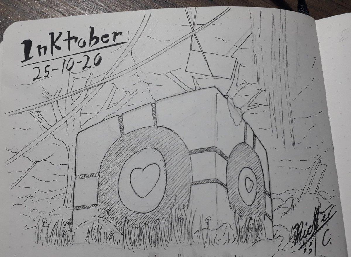 @inktober #inktober2020day25 @jakeparker #inktober2020buddy #inkart #drawing #portal #buddy #woods #sketch #sketchink #sketchbook #mangaart #anime #inkaddict #inked #videogames #heart #rusty #drawing🎨 #pendrawing #traditionalart https://t.co/jsApdrrze1