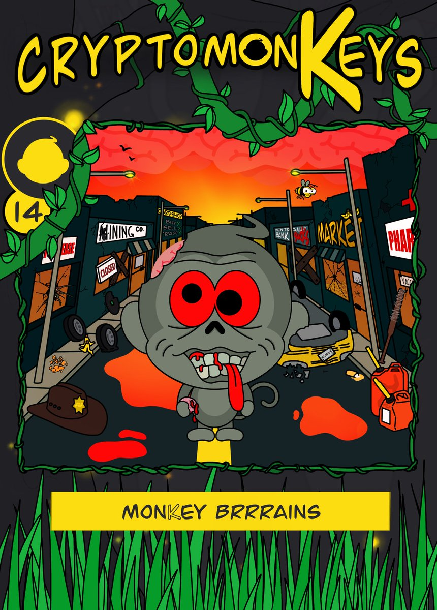 New #cryptomonKey #NFT #Giveaway! Card 14: monKey Brrrains Rarity: Epic (max 91) https://t.co/Sn0PoU3Zsw  #monKeydrop 1 card+5k $BAN to 5 random winners: 1) RT this tweet 2) Follow @Crypt0monKeys & @bananocoin 3) Comment your $WAX & $BAN address and tag a friend! Ends on Nov 19th https://t.co/E63JwJDdBR