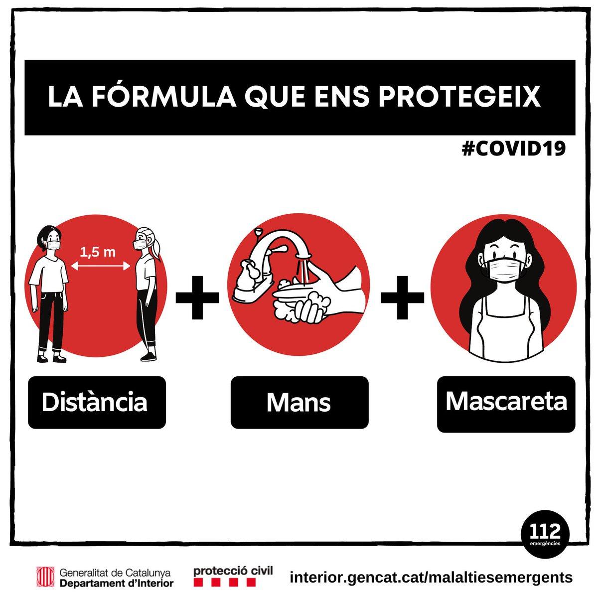#Bondia  No ho oblidis:   ✅ Posa't mascareta  ✅ Renta't les mans  ✅ Respecta la distància   #coronavirus #COVID19 #DistanciaMansMascareta #ProteccioCivil https://t.co/LBkPxjZ8l0