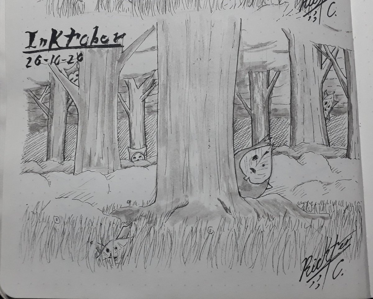 @inktober #inktober2020day26 @jakeparker #inktober2020hide #inkart #drawing #leyendofzelda #breadofthewild #hide #woods #sketch #sketchink #kolog #zelda #sketchbook #mangaart #anime #inkaddict #inked #videogames #heart #rusty #drawing🎨 #pendrawing #traditionalart https://t.co/NFTsZiv4kE