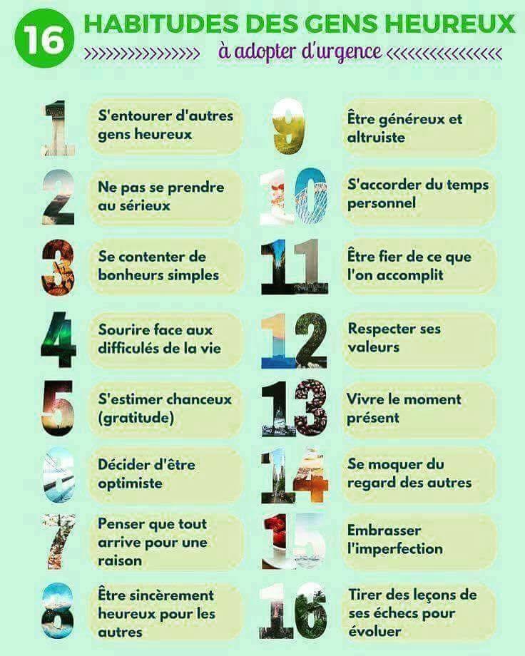 Les 16 habitudes des gens heureux... à adopter d'urgence !  #lifestyle #vieprivéeviepro #Management https://t.co/JQQbeegZAA