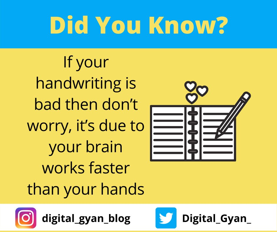 Great people and scientist usually have bad handwriting #knowledge #DigitalGyan #writing #technology #facts https://t.co/6Gu3XFKCIC