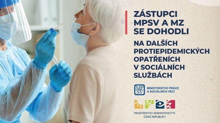 Zástupci MPSV a MZ se dohodli na dalších protiepidemických opatřeních v sociálních službách, mj. na plošném testování v pobytových službách.   Více informací na: 📍https://t.co/nLZ1Tfzrgr https://t.co/2lbnCi5VVh
