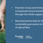 Image for the Tweet beginning: Prysmian Group and Umicore will