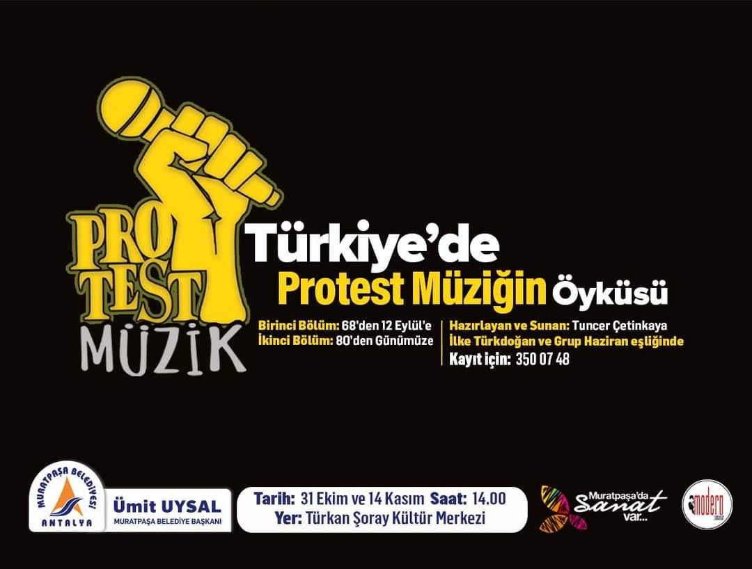 Muratpaşa Belediyesi ve Modern Zamanlar Sanat Derneği Sunar: Bu cumartesi saat 14.00'te özel bir etkinliğe davetlisiniz. Pîr Sultan'dan Dadaloğlu'na, Barış Manço'dan Cem Karaca'ya, Ruhi Su'dan Livaneli'ye müziğimizde bir dönemin öyküsü.  Ücretsizdir, Kayıt için Tlf: 0242 350 0748 https://t.co/vYUCqX6WIN
