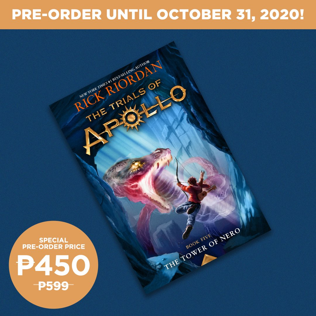 PRE-ORDER Rick Riordan's new book! Get The Trials of Apollo: The Tower of Nero at a special price of only P450 (SRP: P599): . #TheTowerOfNero #RickRiordan #NBSNewReads #NBSbookstagram #NBSeveryday
