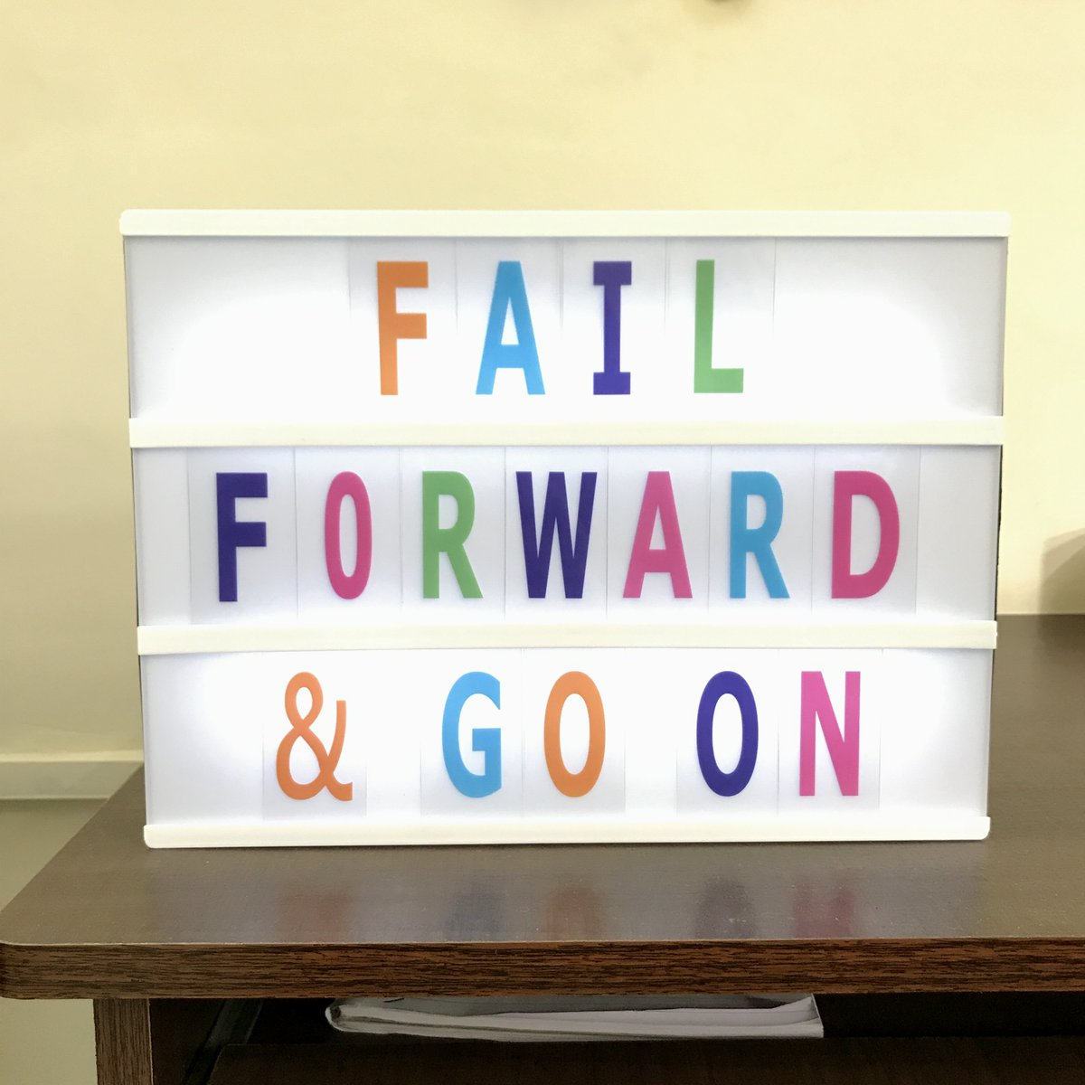 Don't be afraid to fail. Fail forward and kep going. #motivational #inspirational #quotes https://t.co/BaoF69E3c7
