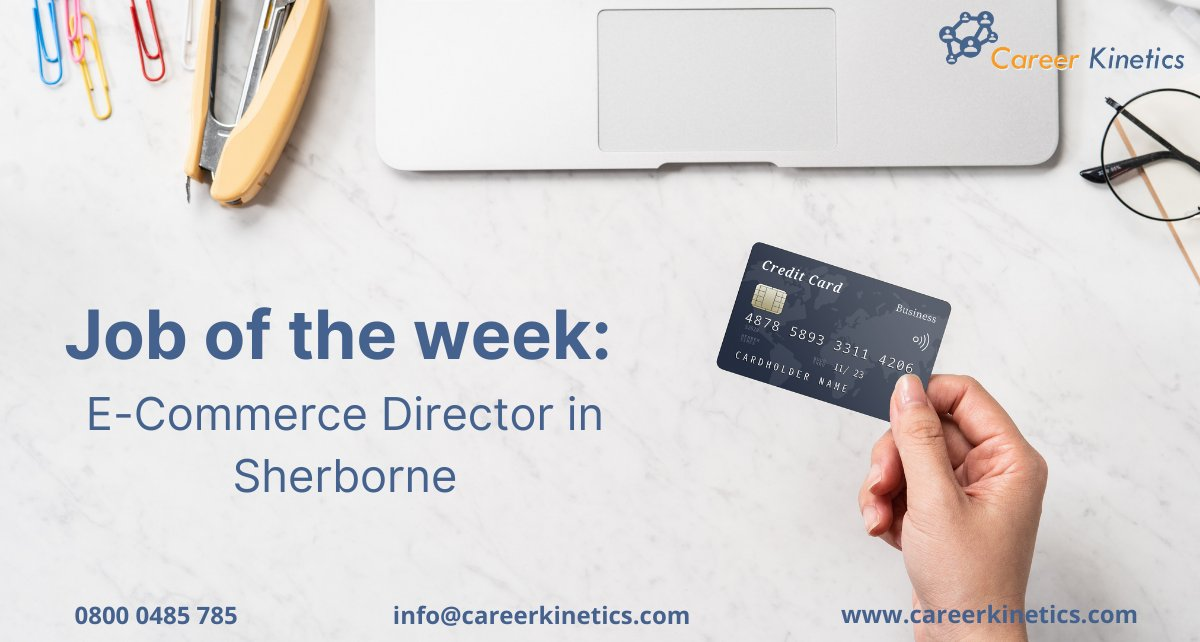 It's another #JobOfTheWeek!  Our client is working exclusively with a leading Retail business based in Sherborne, Dorset, in the recruitment of an E-Commerce Director.  Apply via our website 👇 https://t.co/4SCJgzlkcg  #vacancy #hiring #jobs #jobalert #ecommerce #director #google https://t.co/zwtxWmuKUP