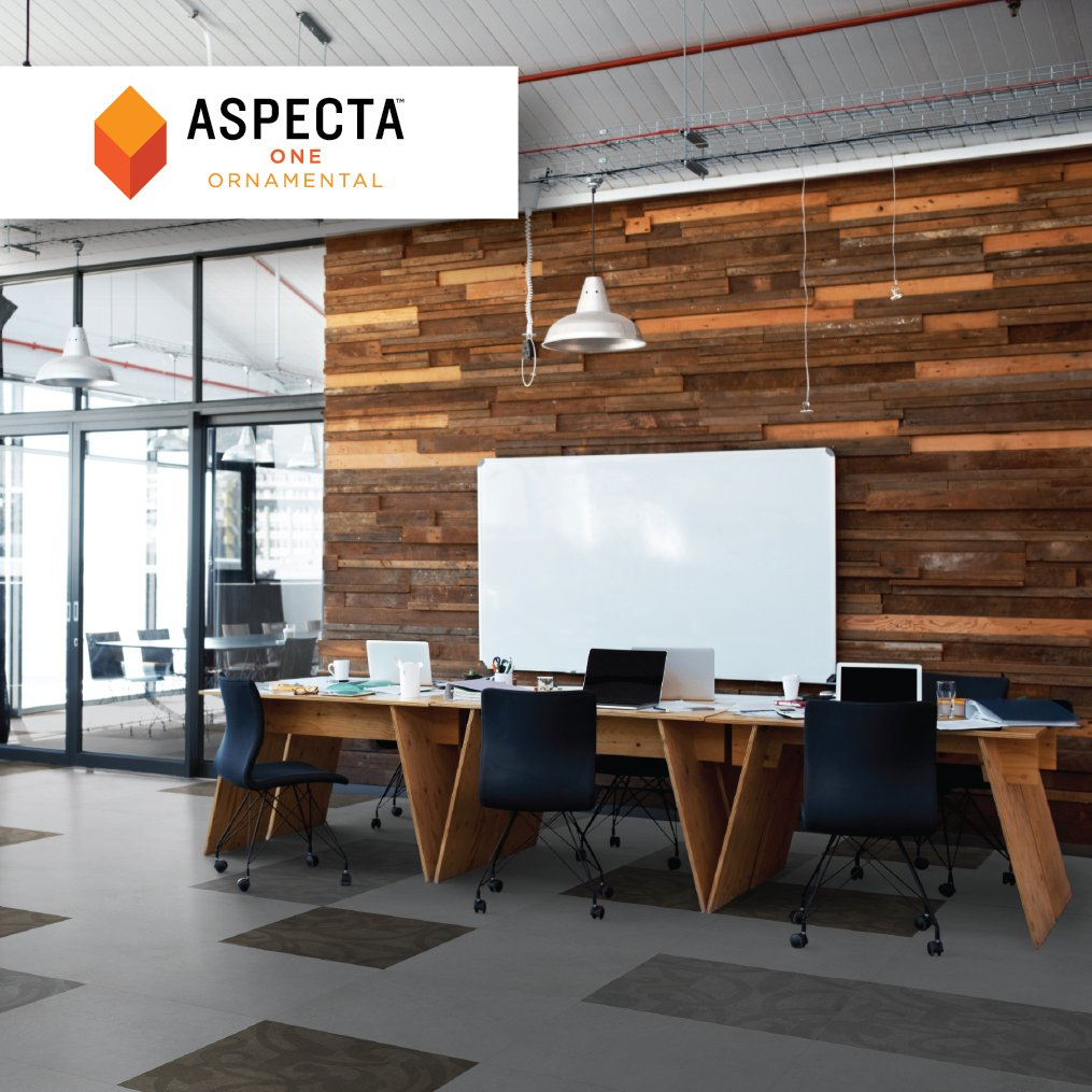 Sleek, modern and creative. Our Aspecta One Ornamental adds the perfect amount of flair to ignite #creativity and energy in any space.    This office space is ready to get things done.   Learn more at https://t.co/pit9Zn6Ilv  #interiordesign #aspectaone #flooring #design https://t.co/JvZVdElMng