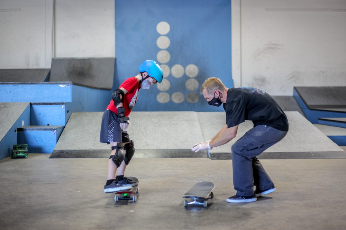 Good news! Alameda County restrictions now allow us to deliver individual private lessons in person again at the Braille house, with all necessary precautions in place. We missed you guys! Virtual skate lessons also still available. https://t.co/rOBcgFKmUx https://t.co/W7WSrN84IJ