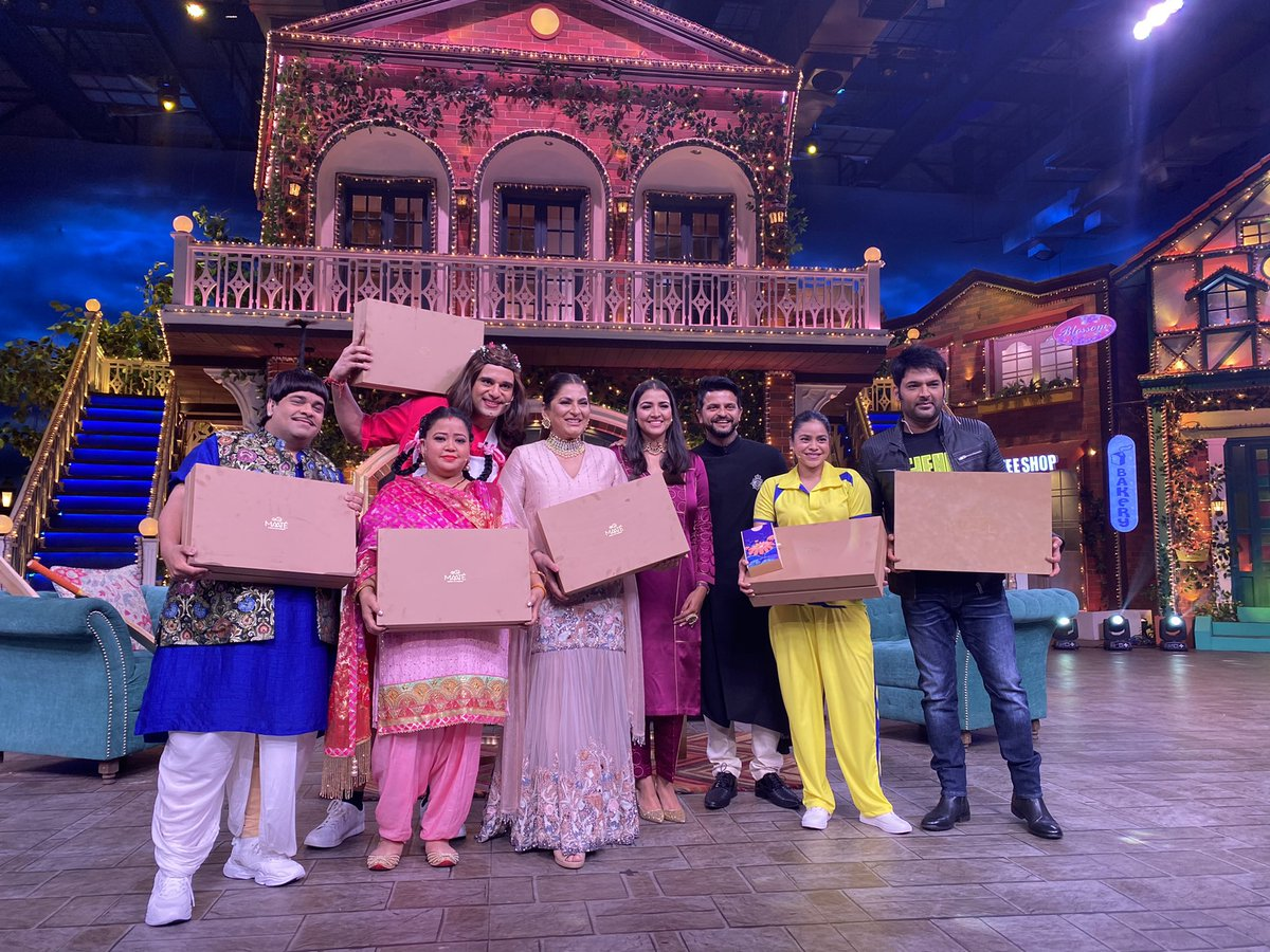 What a fantastic show it's been, @KapilSharmaK9 as always you have been such an amazing host. The whole team & crew made it such a fun shoot. Thank you everyone for having us & giving a big shoutout to @maateCare