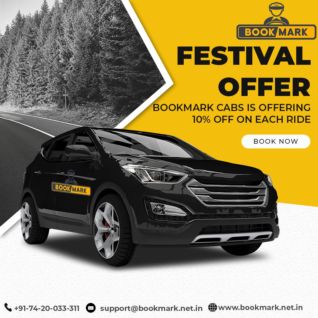 Are You waiting for  Festival gift?? so here is.. Bookmark Cabs is offering 10% Off on each ride. For More Information Call us 7420033311   #bookmarcabs #festivaloffer #offersale #taxi #travel #car #taxis #cab #taxiservice #taxista #cars #airport #taxicab #cabs #corporatetravel https://t.co/dDLCUTQBMB