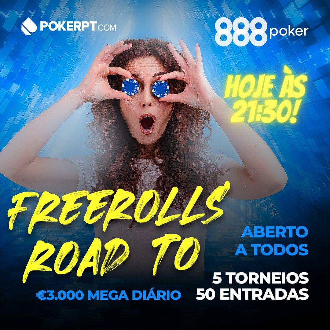 ➡PokerPT Road To Mega Diário com 🤑 €50 em tickets hoje às 21:30✔  Participa, aberto a TODOS os🇵🇹! Sabe mais 👉 https://t.co/xKw9iDZLyU  #poker #pokerpt #freerollspokerpt #888poker #pokeronline #roadtomegadiario #freerolls #freerollpoker https://t.co/Hpooth90m8