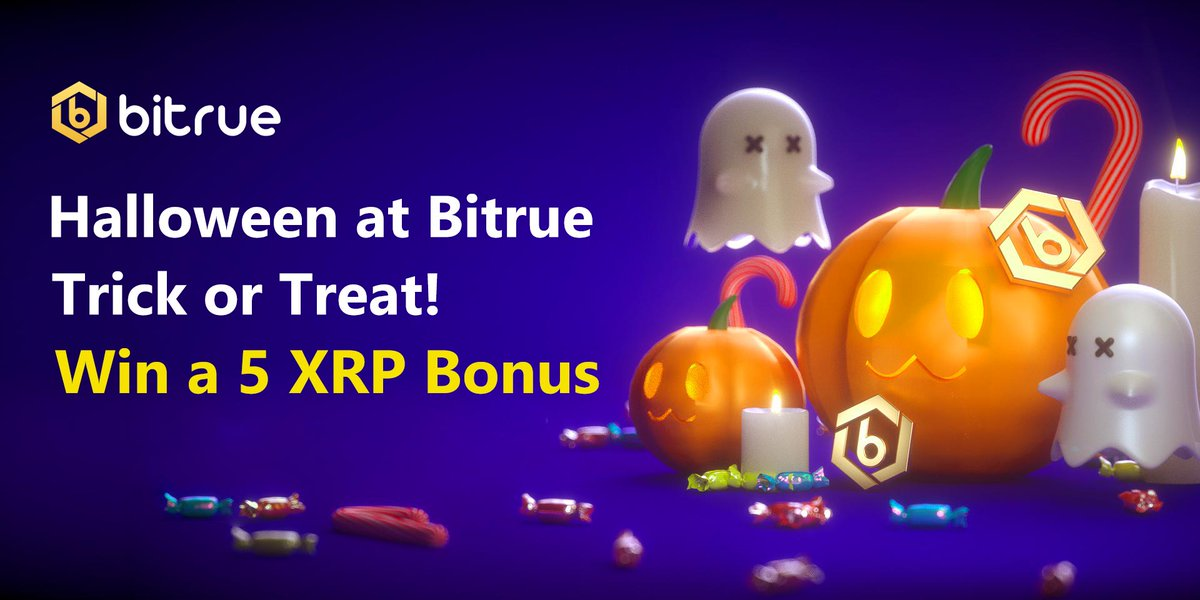 🎃Trick or treat! We have treats of 5 $XRP going out to 50% of the first 1000 users who complete these tasks! Are you feeling lucky?  1. RT & Follow 2. Register here - https://t.co/ogDhkEDuI1 3. Reply tagging 3 friends using the hashtag #CryptoHalloween https://t.co/BwHZpCNDHs