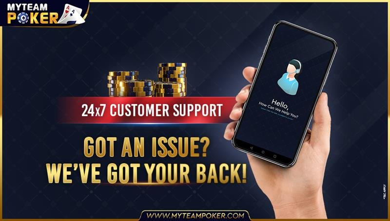 Got an issue? Contact our customer executives, we are available at your service 24 x 7.   #poker #pokeronline #pokerlife #pokerplayer #pokernight #pokerface #texasholdem #jackpot #onlinepoker #pokerchips #MyTeamPoker #pokerindia https://t.co/isBkmYaqht