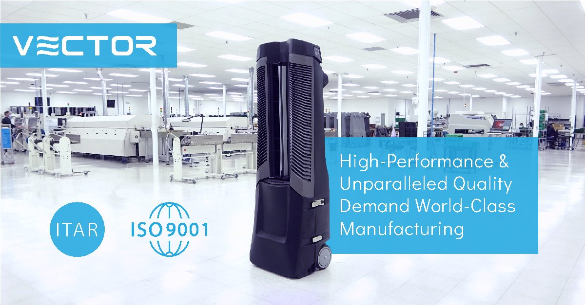 Vector's state-of-the-art production laboratory meets multiple manufacturing standards and certifications, such as ITAR and ISO 9001.   #manufacturing #innovation #mobilecooling #technology https://t.co/M5oqi4DZAa