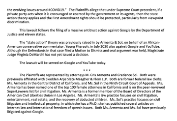 Fifteen HUGE YouTube Creators File Federal Lawsuit Against YouTube for Violating First Amendment ElVDiWXXEAEZAUq?format=png&name=360x360
