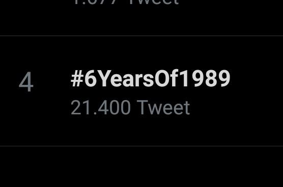 #6YearsOf1989