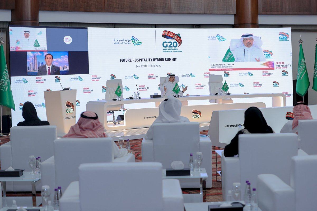 """""""MISA is the entry point to investing in #SaudiArabia, we connect investors with sectors across the Kingdom instantly""""   H.E. @Khalid_AlFalih on harnessing investment opportunities in the Kingdom at the @FuturHospSummit  today, organized by the @Saudi_MT and @g20org https://t.co/QLq1UynHtp"""