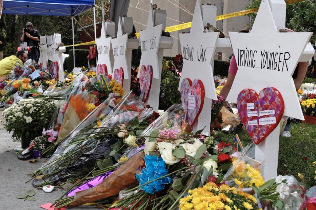 In memory of the 11 Jews murdered 2 years ago in a Pittsburgh synagogue:  Joyce Fienberg, 75 Richard Gottfried, 65 Rose Mallinger, 97 Jerry Rabinowitz, 66 Cecil Rosenthal, 59 David Rosenthal, 54 Bernice Simon, 84 Sylvan Simon, 86 Daniel Stein, 71 Melvin Wax, 88 Irving Younger, 69 https://t.co/Sb6GxyIvD9