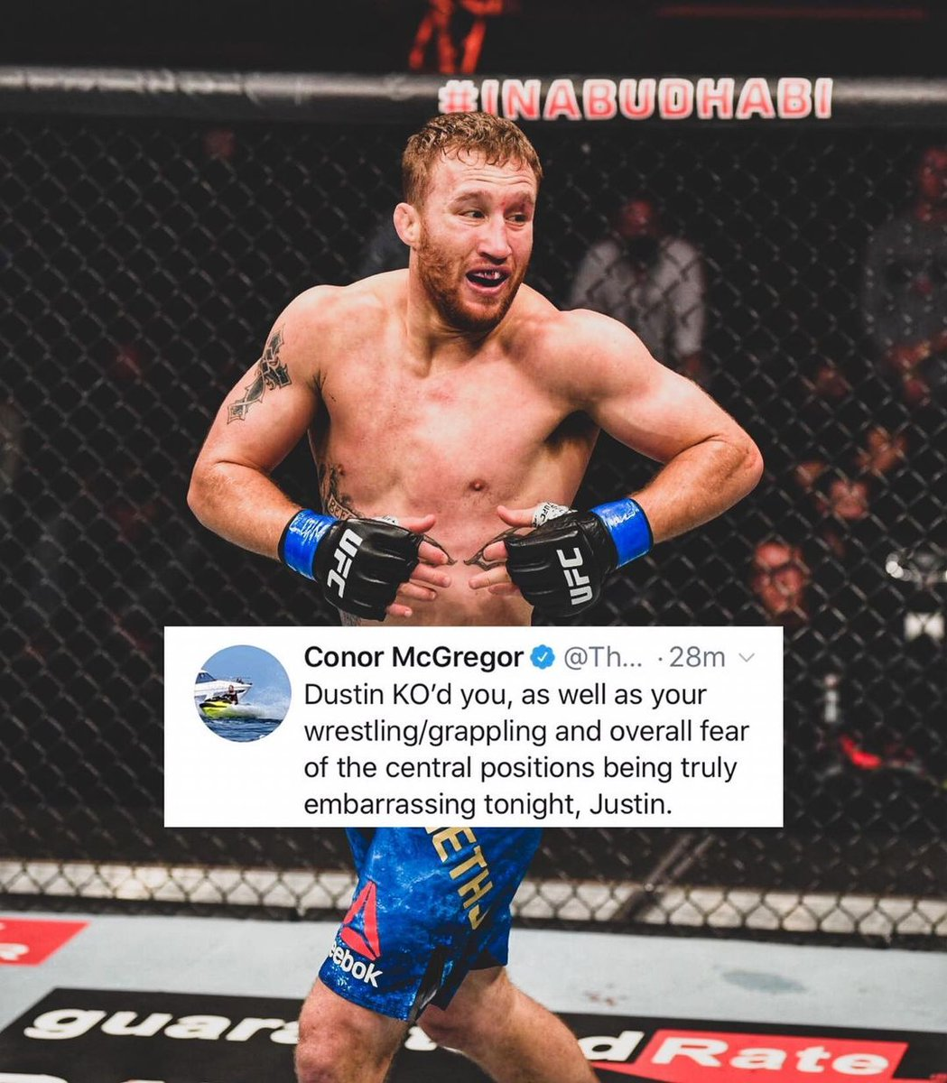 McGregor replies to Justin after he suggests Conor could