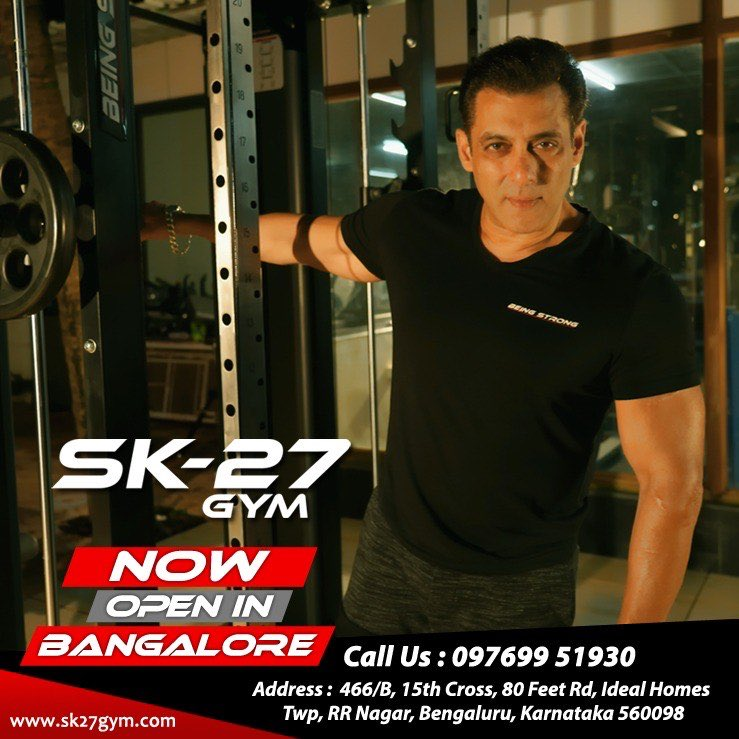 Banging SK-27 gym in Bengaluru #Beingstrong #SK27GymBangalore @BeingSalmanKhan