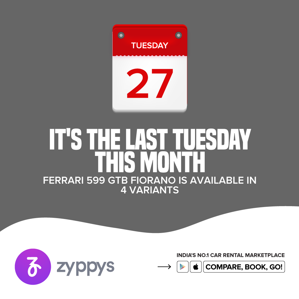 You never know when you might need a car and that's why you should always have Zyppys installed on your phone  Download Zyppys: https://t.co/PQVu6aafGX  #Zyppys #ZyppysCarRental #Travel #CompareCars #RentACar #Travel #SelfDriveCars #ChauffeuredCar #CarRental #Ferrari599 https://t.co/8fTOBdHiUn