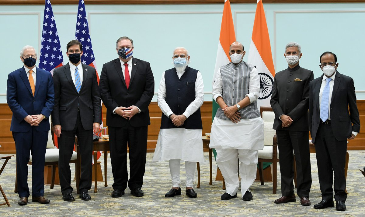 The Secretaries of State and Defence of USA call on Prime Minister Modi
