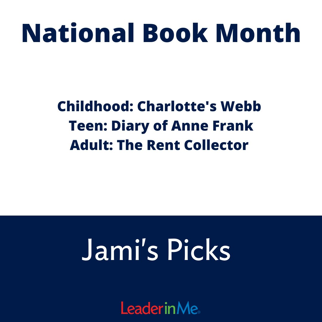 We've got some more favorites! Have you started reading yet? #nationalbookmonth #education #leaderinme #lim