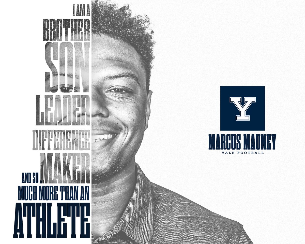 I am a difference-maker. I am a brother, son, and a leader. 𝙄 𝙖𝙢 𝙨𝙤 𝙢𝙪𝙘𝙝 𝙢𝙤𝙧𝙚 𝙩𝙝𝙖𝙣 𝙖𝙣 𝙖𝙩𝙝𝙡𝙚𝙩𝙚. My Story Matters | Marcus Mauney #ThisIsYale #NCAAInclusion