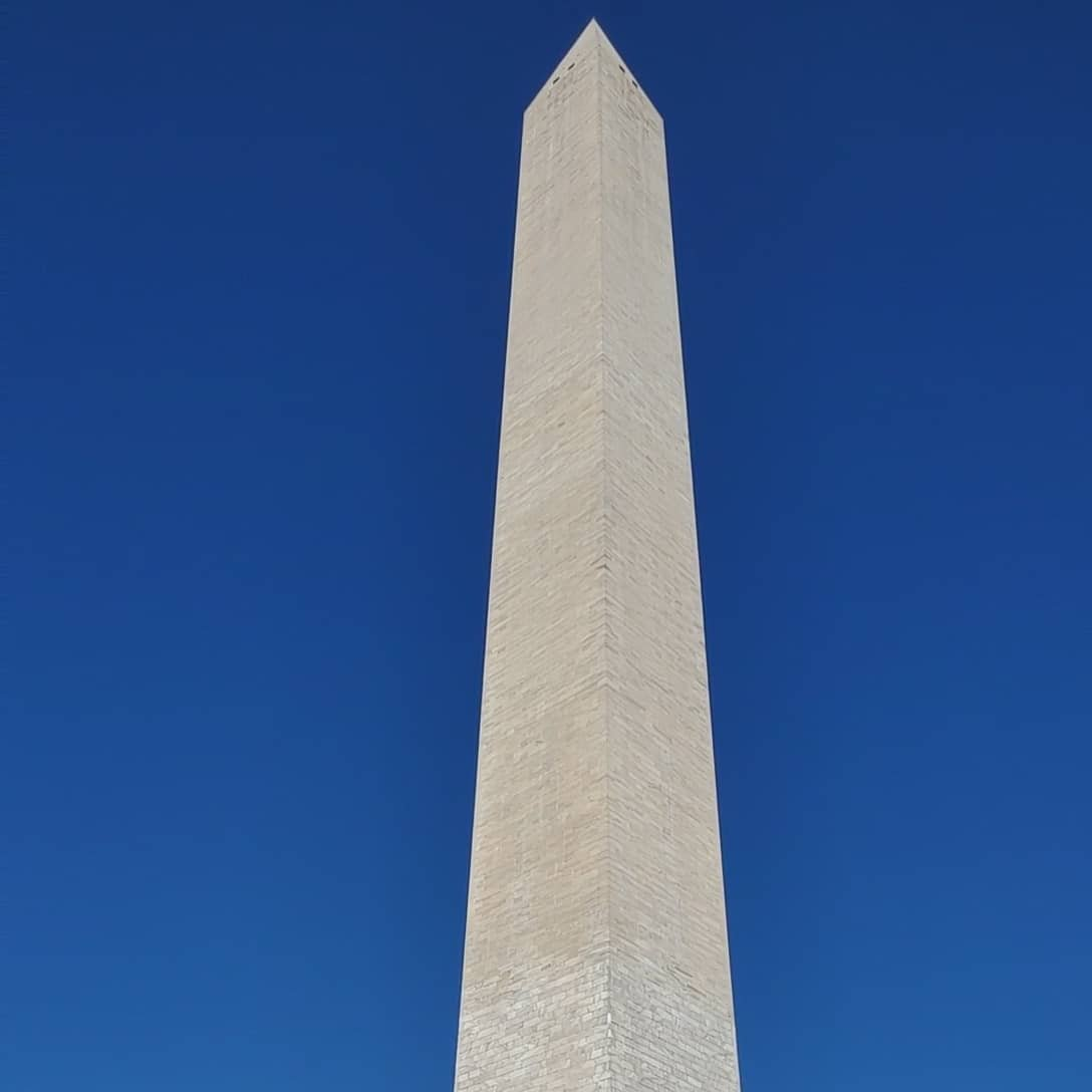 Beautiful views from the Washington Monument tour.