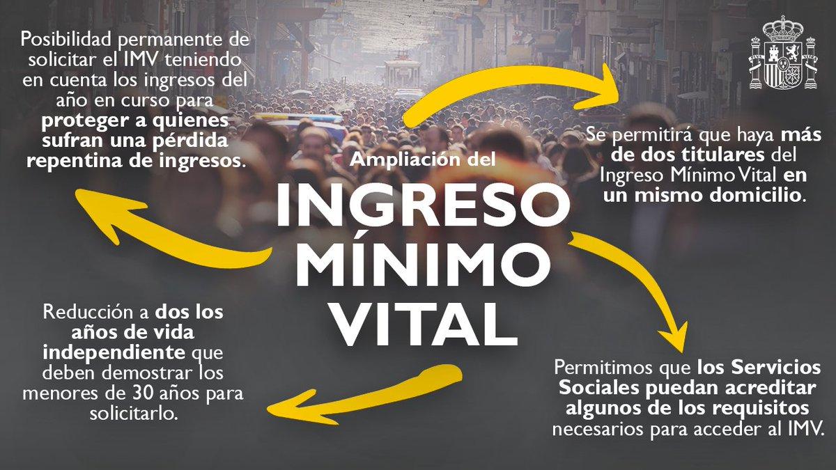 Twitter Vicepresidencia de Derechos Sociales y Agenda 2030. 🤝El Gobierno acuerda introducir mejora...: abre ventana nueva