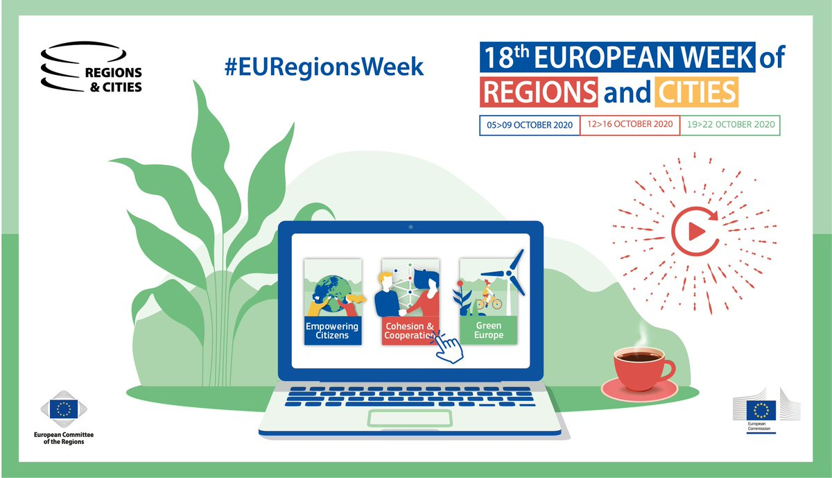 Couldn't attend one of our #EURegionsWeek sessions?    Don't worry, all the sessions have been recorded!   You can watch them here, for one year : https://t.co/sY3p1BsfFs  #EmpoweringCitizens #CohesionAndCooperation #GreenEurope https://t.co/cSoyoz07hw