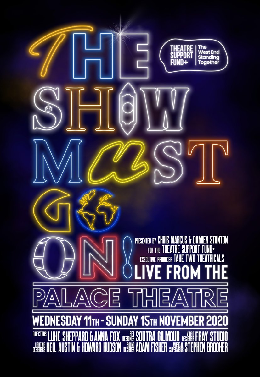 Casting announced for The Show Must Go On! LIVE at The Palace Theatre | Starring the likes of @ZiziStrallen @CarlyThoms @samtutty @LaytonWilliams @helenwoolf @TomXander2  and Raising funds for @actingforothers #fleabagforcharity and @nhscharities