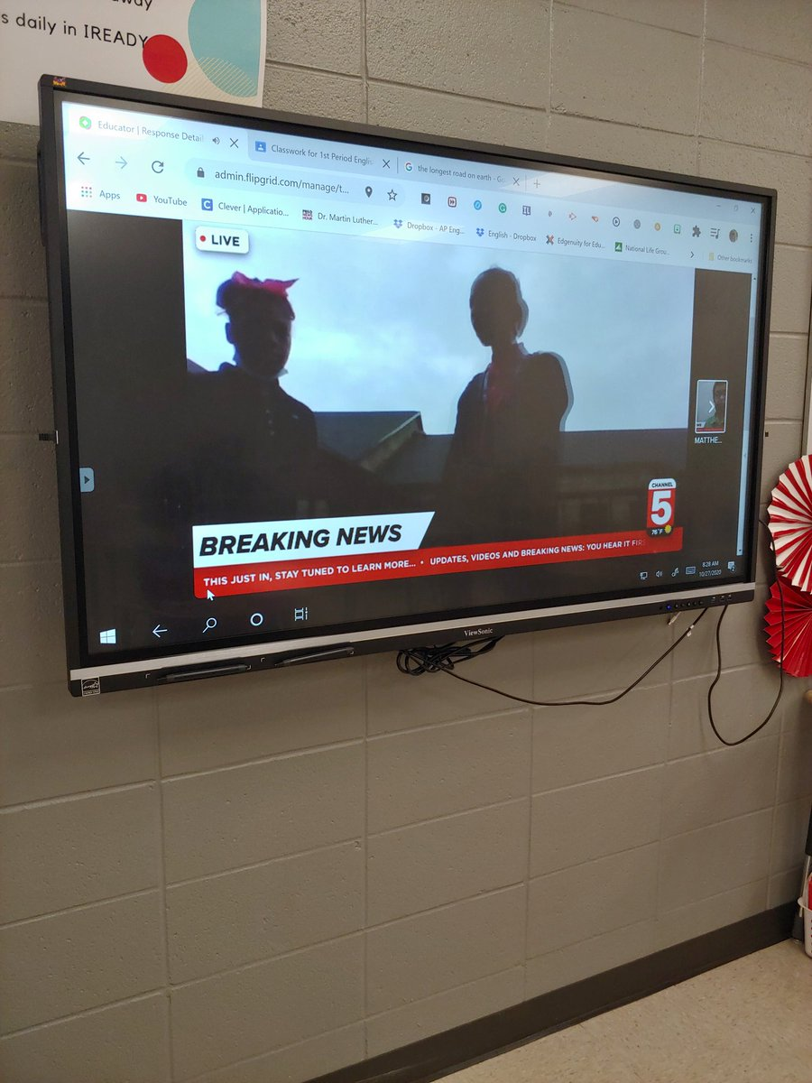 "Thank you @CurriculumAssoc for the extra activities in Ready.  We are creating a newscast of the neighbors' reaction to ""The Ransom of Red Chief""  using @Flipgrid. @Winterboro_High. #exceptional https://t.co/5v8pBIoggZ"