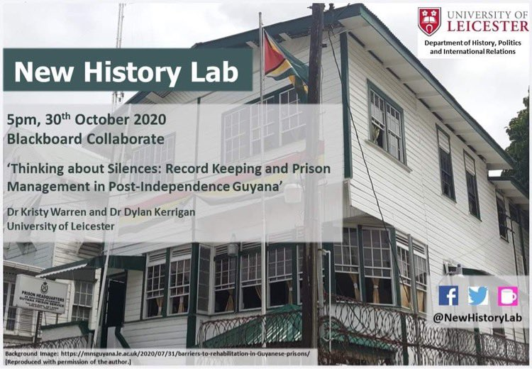 Hello everyone 👋 We are very pleased to be hosting @KristyW3264 and @rumagin from our very own @uniofleicester this Friday at 5pm! Please see the poster below for details, the link for the session will be posted ASAP! @historyleic @HyPIRUoL @DWLresearch @IHRHistoryLab