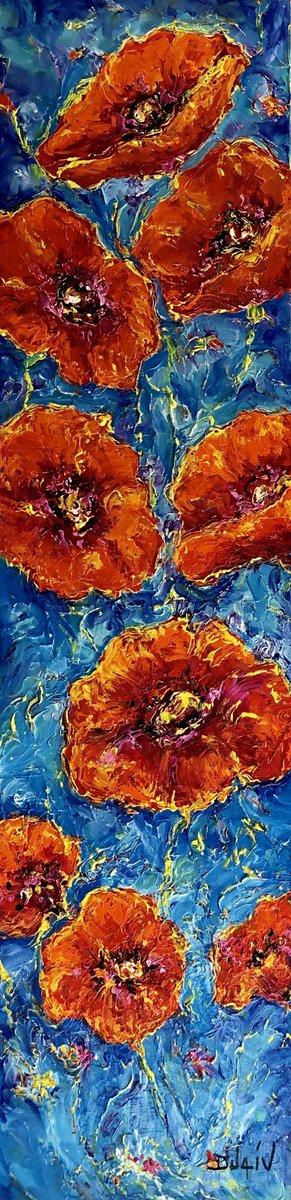 "DUAIV original oil on canvas ""Flowers of Poppies "" 56x14"" FOR SALE  #duaiv https://t.co/IehoFTSZOb  artist@duaiv.us #art #geneduaiv #artistduaiv #duaivartist #postimpressionism #impressionism #parkwestgallery #poppies #flowers #fineart #artforsale #vangogh #florida https://t.co/4w0SHXWph0"