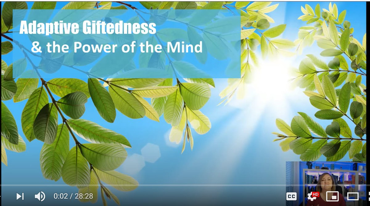 Yea! Free 3-part video series starts today for parents & educators of gifted kiddos. Adaptive Giftedness: Part 1 https://t.co/P63ZI4Crrx #gtchat #edchat #giftED #parenting #txeduchat #edutwitter https://t.co/ISeIasAN7c