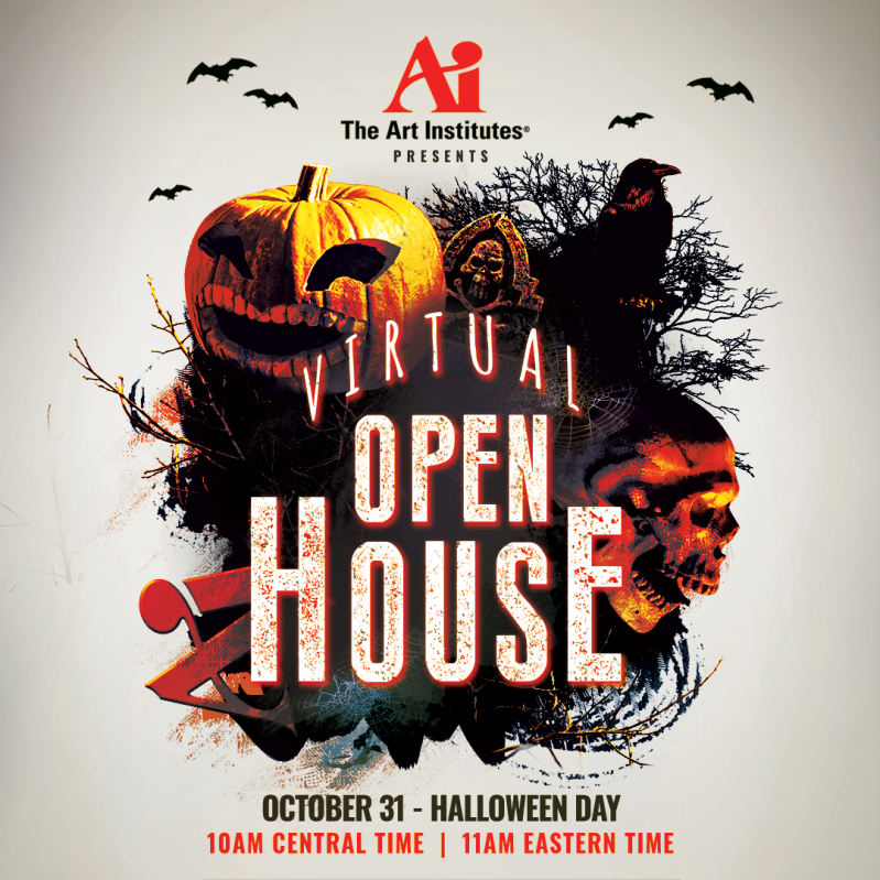 The ART Institute is having a Virtual Open House for all perspective students this Saturday, Oct 31 @ 10:00 a.m.