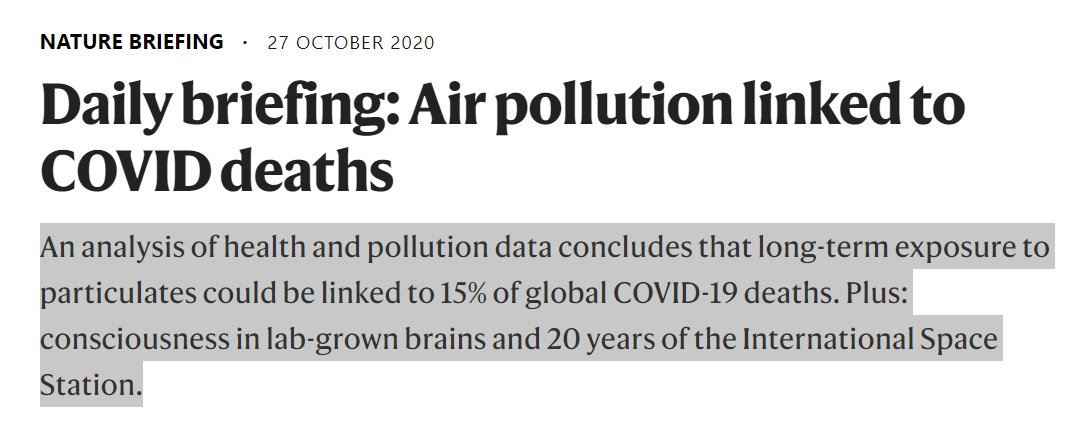 Long-term exposure to particulates could be linked to 15% of global #COVID19 deaths.   #WearAMask #WashYourHands #SocialDistancing   https://t.co/bazU7RkM6C https://t.co/VWsm91PC4q