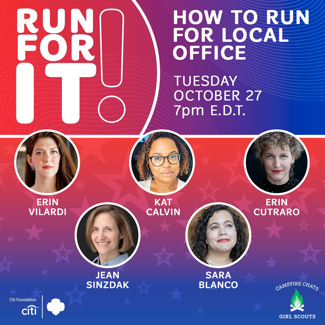 Are you ready to take action on issues you care about? This virtual event is for YOU! Join inspiring women leaders & learn how to run for local office. #GirlScoutsatHome RSVP: bit.ly/3iOgk3u