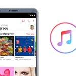 Image for the Tweet beginning: Apple Music-update voor Android introduceert