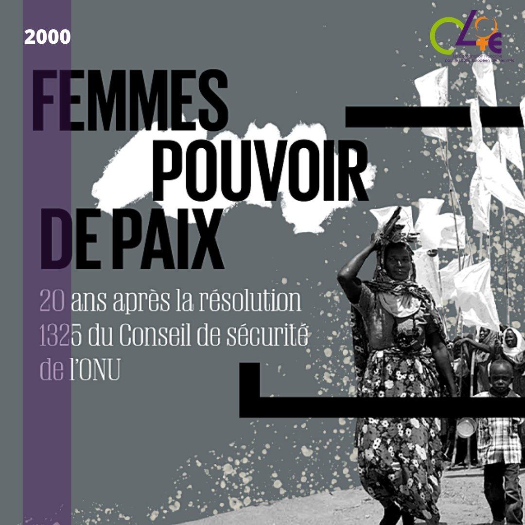La Résolution Femmes Paix et Sécurité a 20 ans ! Le 31 octobre 2000, le Conseil de sécurité des NU adoptait la résolution 1325, première résolution sur le rôle des femmes dans l'instauration et le maintien de la paix. #tbt #ThrowbackThursday https://t.co/egAzY90jjB