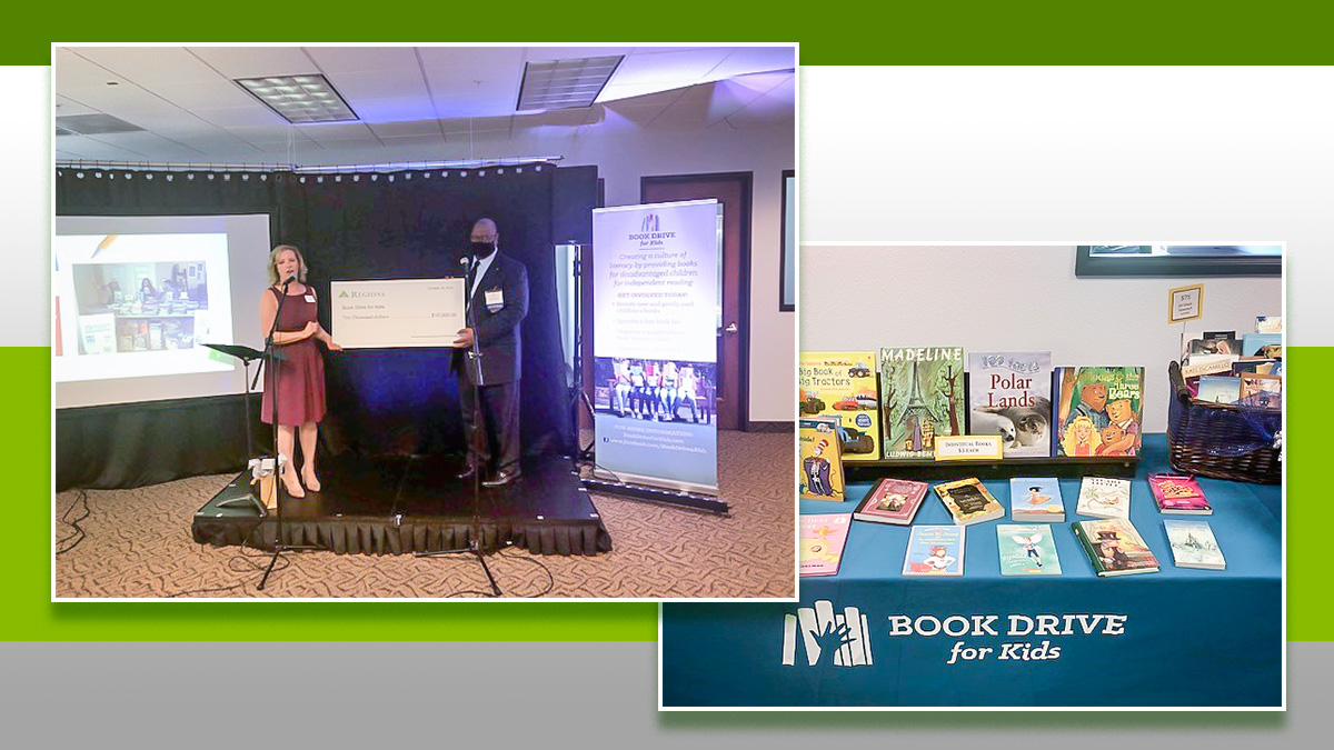 It's more than giving away free #books. It's bringing stories to life for #Texas #students.  @RegionsNews recently donated $10K to @BookDrive4Kids. Read more about this community partnership to promote #literacy and imagination.  https://t.co/GcnLv0xBAm #NationalBookMonth https://t.co/8Mn2n8zOZU
