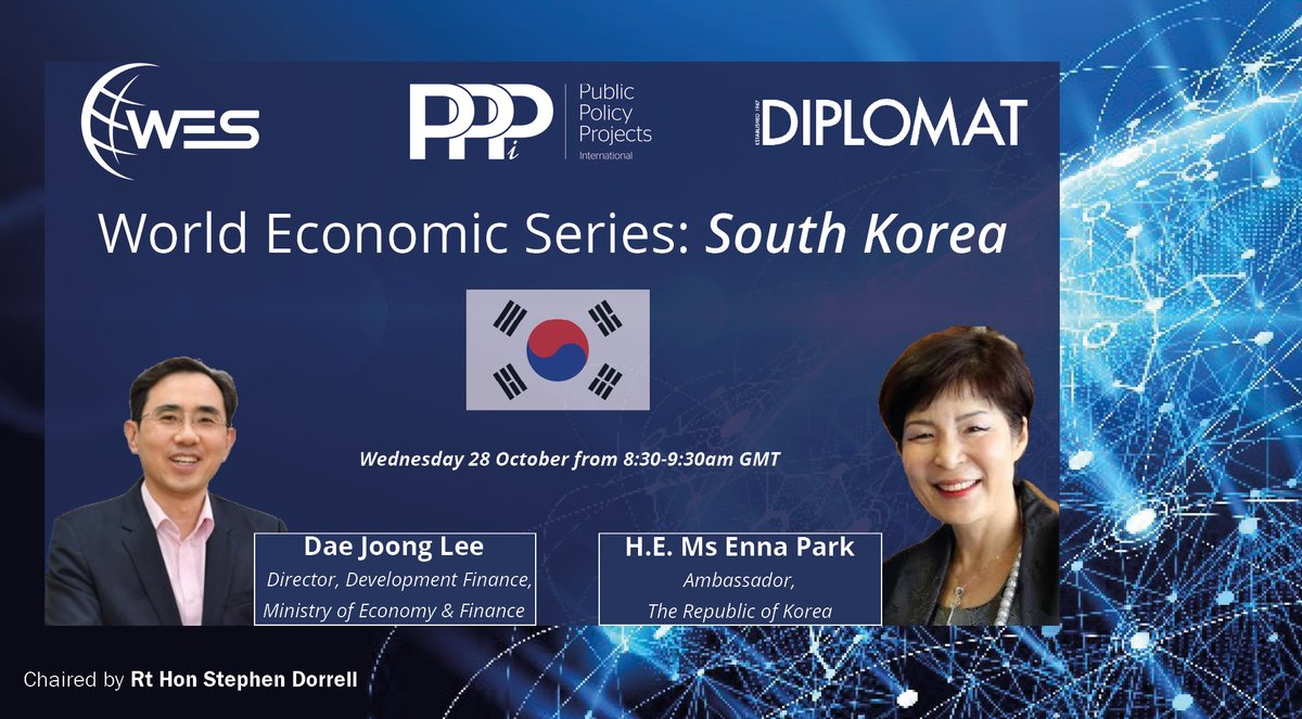 test Twitter Media - TOMORROW (8.30-9.30am): Join @Policy_Projects and @LondnDIPLOMAT webinar 'World Economic Series: South Korea' with Chair @stephen_dorrell, Ambassador Enna Park of @KoreanEmbassyUK & Dae Jong Lee of Ministry of Economy & Finance   REGISTER: https://t.co/Ykq7S5hZSM  #KoreanNewDeal https://t.co/r0ltVEgQPm