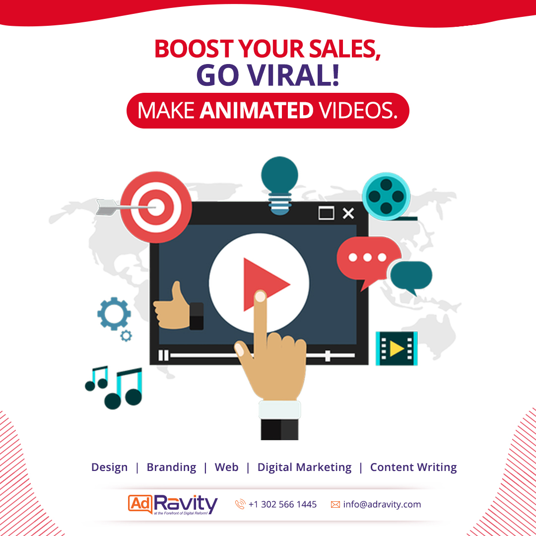 A video can say tenfold than any other medium.  Start boosting your sales with your animated videos.  Go for one today: https://t.co/16SopMh3QM  #Adravity #Sales #Video #Staysafe https://t.co/PBF36XP8xJ