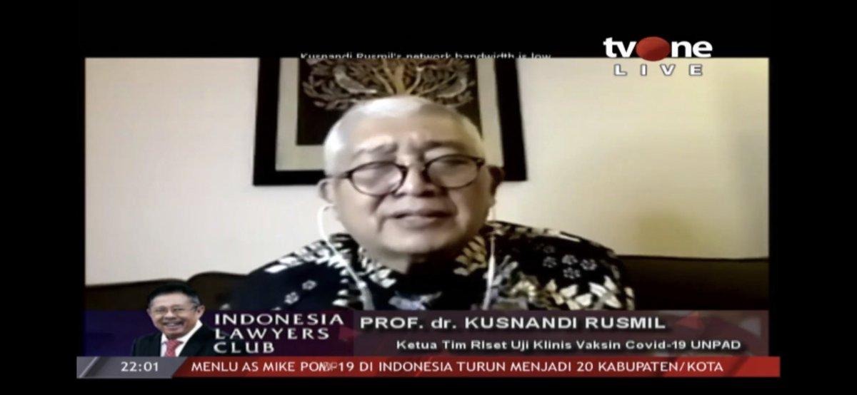 #ILCMenungguVaksin | NARASUMBER ILC : PROF. dr. KUSNANDI RUSMIL (Ketua Tim Rizet Uji Klinis Vaksin Covid-19 UNPAD) https://t.co/ZxVW9CjEA6