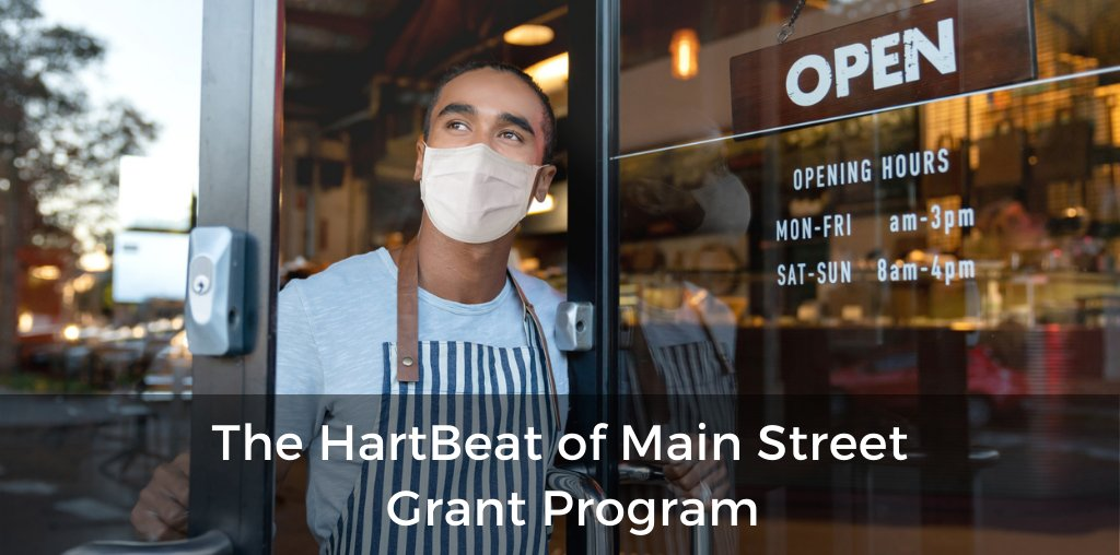 The HartBeat of Main Street Grant Program supports small businesses in the next phase of reopening. Apply by 10/29: https://t.co/HwJOcQPFcQ #WeAreMainStreet #NMEcon #AllTogetherNM #ProtectNM #NMMainStreet https://t.co/IZRkFJ1nPU