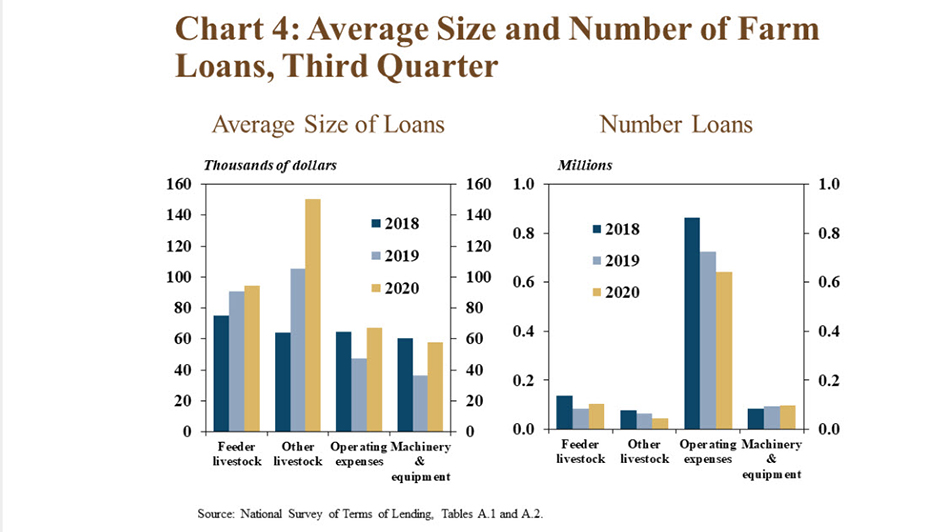 The 3rd quarter #Ag Lending Update indicates the average size of agriculture loans for operating expenses and farm machinery increased from last year and were similar to 2018. https://t.co/xgwU5F3cS8 #EconTwitter #Economy https://t.co/hfq9HT9DSk